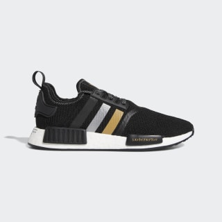 NMD_R1 Shoes Core Black / Gold Metallic / Silver Metallic EH2749