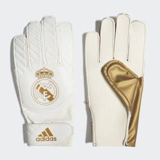 Brankárske rukavice Real Madrid Young Pro Gold Met. / White DY7096