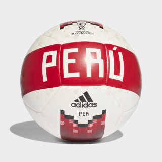 Pelota de fútbol Perú 2018 WHITE/COLLEGIATE RED/BLACK/SILVER MET. DX0799