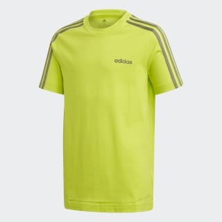 Camiseta Essentials 3-Stripes Semi Solar Slime / Legacy Green FM7032