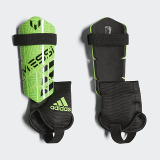 Messi 10 Shin Guards Solar Green / Solar Lime / Black CW5579