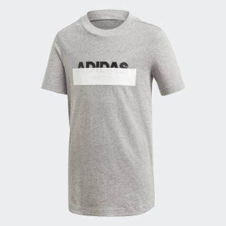 Camiseta ID Lineage Medium Grey Heather / Black DV1647