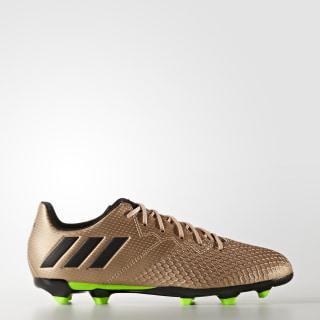 Calzado de Fútbol Messi 16.3 Terreno Firme COPPER MET./CORE BLACK/SOLAR GREEN BA9843