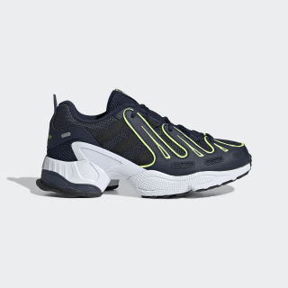 EQT Gazelle Shoes Collegiate Navy / Silver Metallic / Solar Yellow EE7388