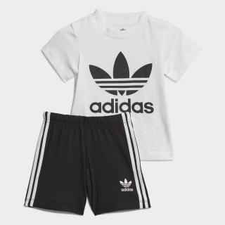 Conjunto de camiseta y pantalón corto Gift White / Black ED7677