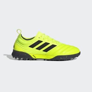 Zapatilla de fútbol Copa 19.1 moqueta Solar Yellow / Core Black / Solar Yellow F35511