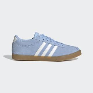 Courtset Schuh Glow Blue / Running White / Gum EE8324