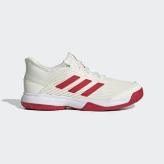 Adizero Club Schoenen Off White / Scarlet / Cloud White EH1108