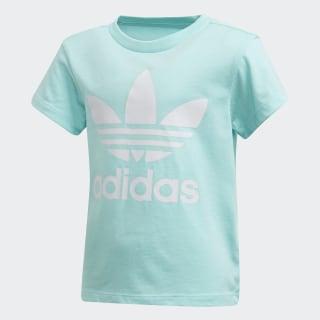 Trefoil T-Shirt Clear Aqua / White FM5632