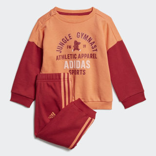 Graphic Terry Jogger Set Semi Coral / Active Maroon ED1173