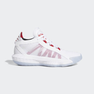 Dame 6 Schoenen Cloud White / Scarlet / Core Black EF9856
