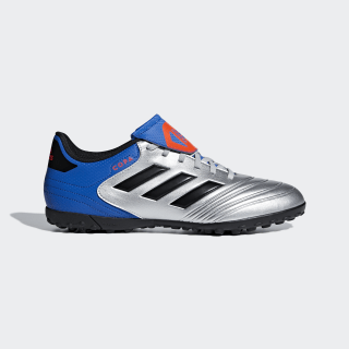 Zapatos de Fútbol Copa Tango 18.4 Césped Artificial SILVER MET./CORE BLACK/FOOTBALL BLUE DB2455