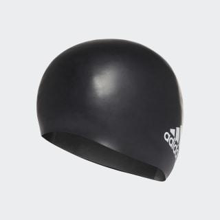 Silicone Logo Swim Cap Black / White FJ4964