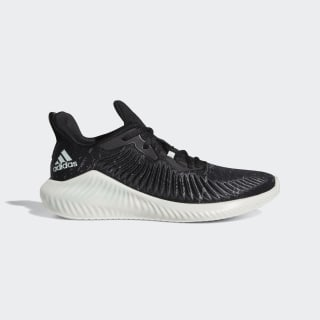 Alphabounce+ Run Parley Schoenen Core Black / Linen Green / Cloud White G28372