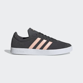 VL Court 2.0 Shoes Grey Six / Glow Pink / Cloud White EE6786
