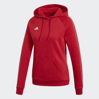 Core 18 Hoodie Power Red / White CY8260
