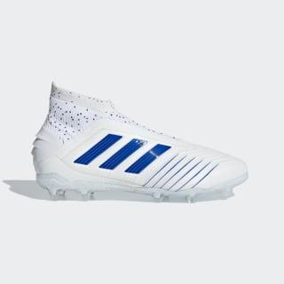 Футбольные бутсы Predator 19+ FG ftwr white / bold blue / bold blue CM8526