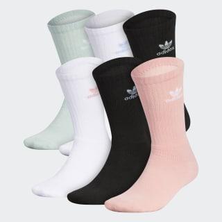Trefoil Mid-Cut Crew Socks 6 Pairs Multicolor CM3957