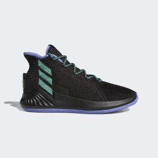 Баскетбольные кроссовки D Rose 9 core black / real lilac / hi-res green s18 BB8018