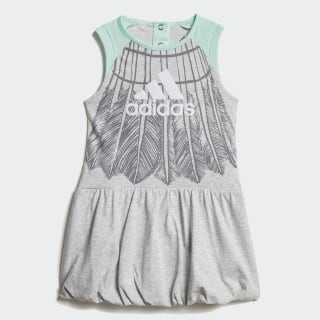 Платье light grey heather / clear mint / black / white DV1255