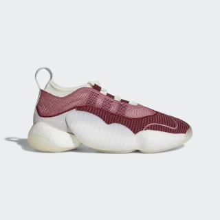 Crazy BYW II Shoes Trace Maroon / Cloud White / Clear Orange B37555