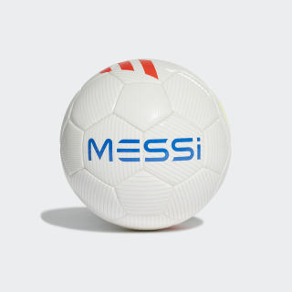 Balón MESSI MINI Top:white/solar red/solar yellow/football blue Bottom:CRYSTAL WHITE S16 DY2469