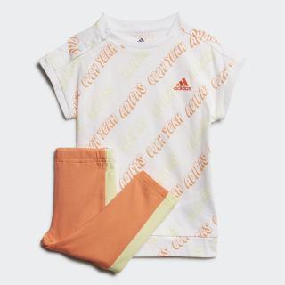 Комплект: футболка и леггинсы White / Yellow Tint / Semi Coral FM6396