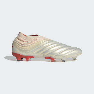 Calzado de Fútbol Copa 19+ Terreno Firme Off White / Solar Red / Off White BB9163