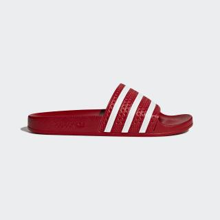 adilette Slides Scarlet/White 288193