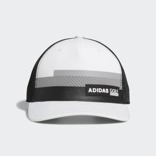 Stripe Trucker Hat White CY7495