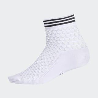 Fishnet Quarter Socks White CK6739