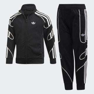 Pants con Sudadera FLAMESTRK TS Black / White DV2864
