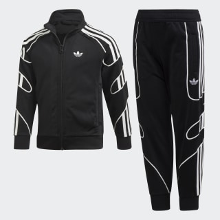 Pants con Sudadera FLAMESTRK TS Black / White DV2864