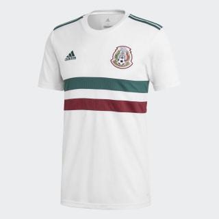 Jersey Segundo Uniforme Selección Nacional de México White / Collegiate Green / Collegiate Burgundy BQ4689