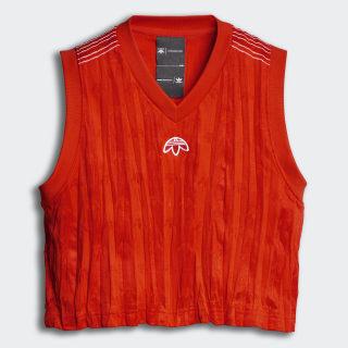 Camiseta Aw Crop Jersey BOLD ORANGE/WHITE DP1062