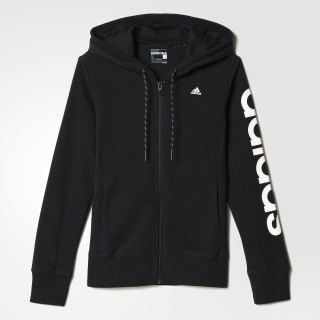 Essentials Linear Hoody Black / White AJ4579