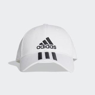 Boné Seis Painéis Classic 3-Stripes White / Black / Black DU0197