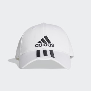 Gorra Six-Panel Classic 3 bandas White / Black / Black DU0197