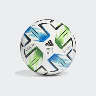 MLS Nativo XXV Mini Football White / Samba Blue / Solar Green / Silver Metallic FH7318