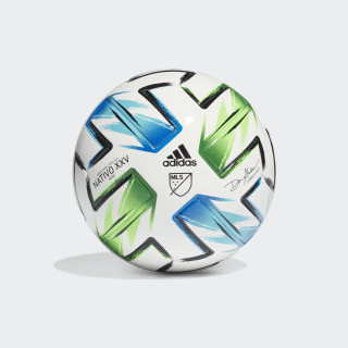 Mini ballon MLS Nativo XXV White / Samba Blue / Solar Green / Silver Metallic FH7318