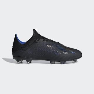 Bota de fútbol X 18.2 césped natural seco Core Black / Core Black / Bold Blue D98181