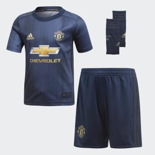 Trzeci zestaw Manchester United dla małego piłkarza Collegiate Navy / Night Navy / Matte Gold DP6018