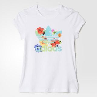 Playera Floral Trefoil WHITE/MULTICOLOR BK2035