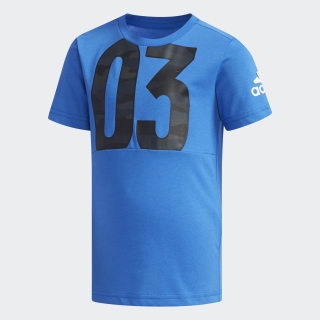 Cotton T-Shirt Blue / White DW4082
