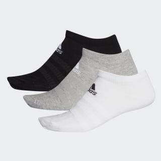Socquettes (3 paires) Medium Grey Heather / White / Black DZ9400