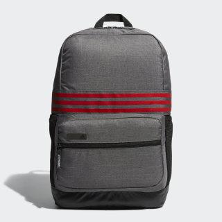3-Stripes Backpack Medium Dark Grey Heather / Scarlet BC2242