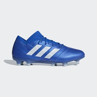 Calzado de Fútbol Nemeziz 18.1 Terreno Firme Football Blue / Cloud White / Football Blue DB2080