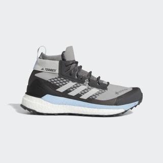 Tenis Terrex Free Hiker GOR-TEX Senderismo Charcoal Solid Grey / Grey Two / Glow Blue G28465