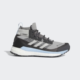Треккинговые кроссовки Terrex Free Hiker GTX ch solid grey / grey two f17 / glow blue G28465