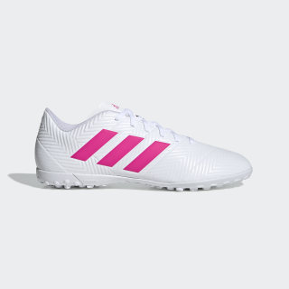 Zapatos de Fútbol Nemeziz Tango 18.4 Césped Artificial ftwr white / shock pink / shock pink D97993